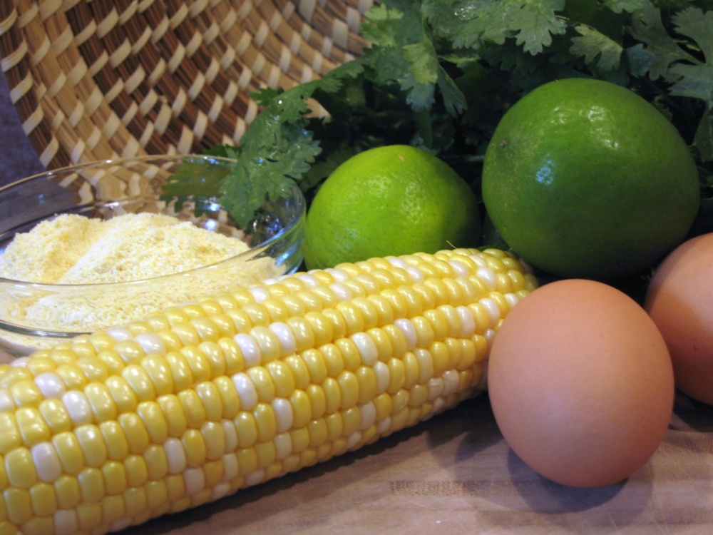 Lime-Cilantro Corn Bread with Honey Butter (1/4)