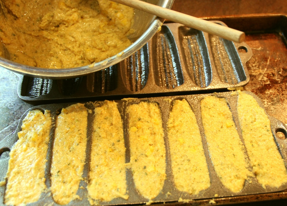 Lime-Cilantro Corn Bread with Honey Butter (3/4)