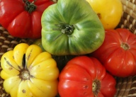 August - wonderful local heirloom tomatoes.