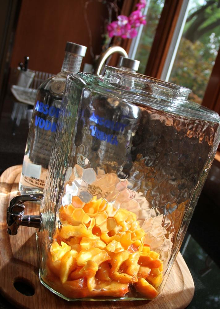 Homemade Peach-Infused Vodka (4/6)