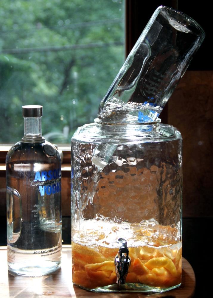 Homemade Peach-Infused Vodka (5/6)