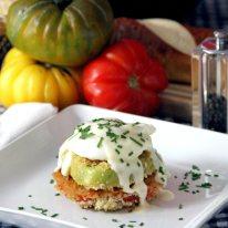 September - Panko-Fried Heirloom Tomatoes.
