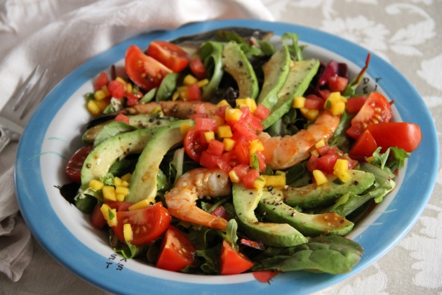 Spicy Grilled Shrimp Salad