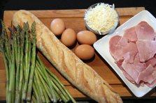 Making Ham and Asparagus Strata