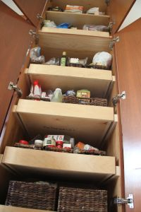 Looking up into my pantry - what a mess!