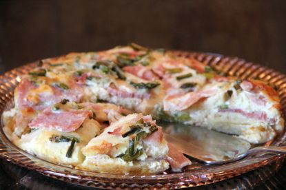 Layers - Ham and Asparagus Strata