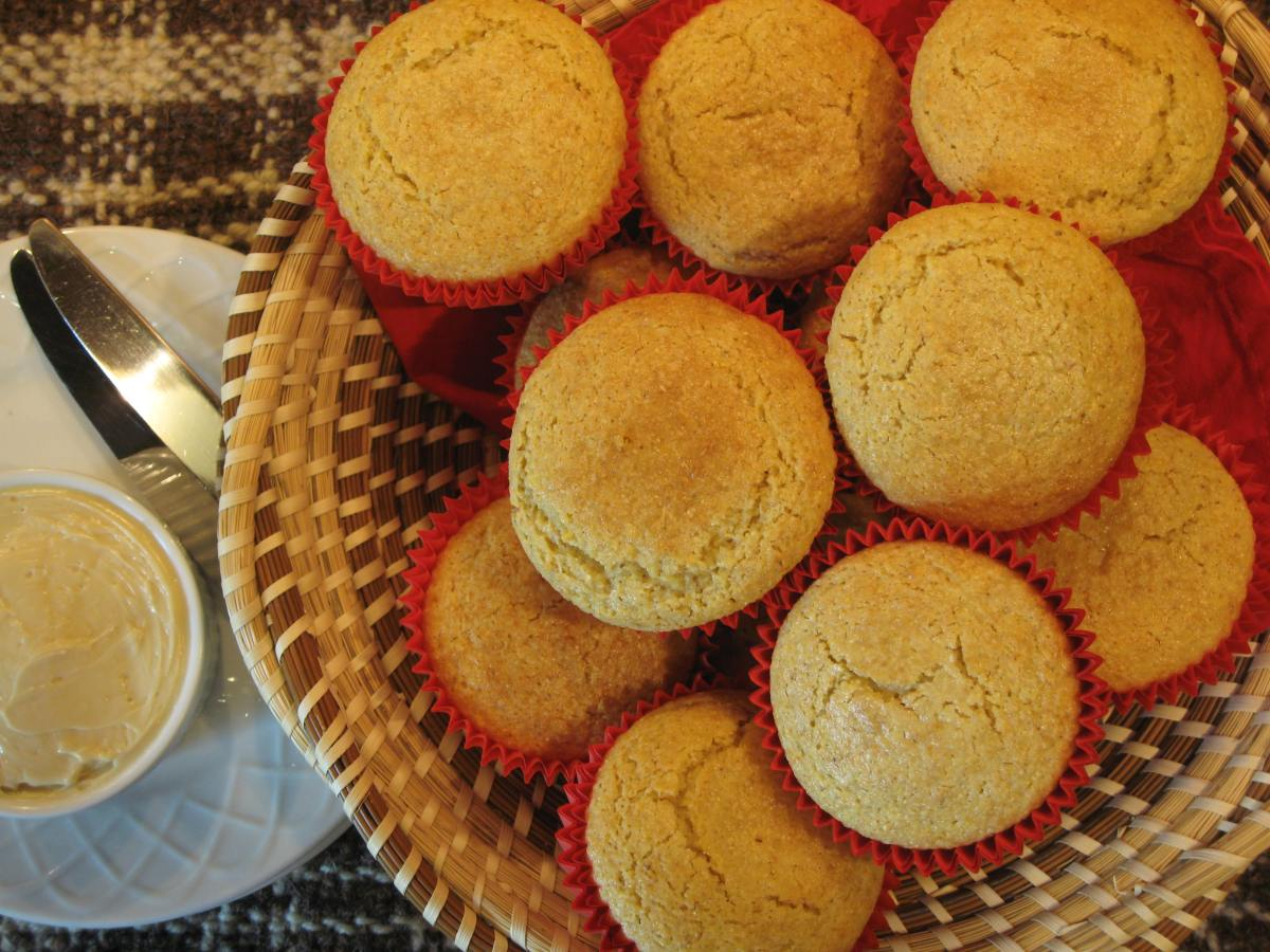 Toasted Maple Corn Muffins with Maple Honey Butter | MixerUpper.com